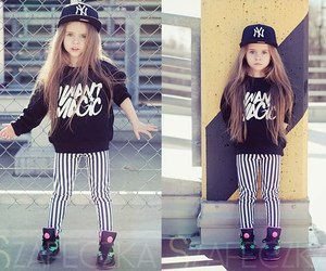 cute, swag, and little girl image