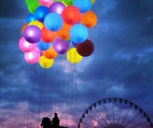 balloons, horse, and colors image
