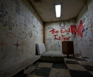 end, room, and creepy image