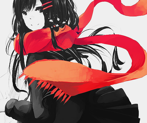 anime, red, and kagerou project image