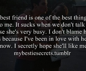 best friend, busy, and confession image