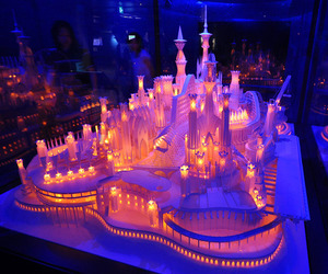 castle, light, and Paper image