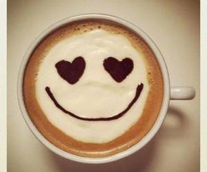 smile, coffee, and heart image