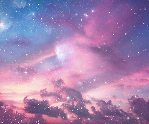 sky, stars, and galaxy image