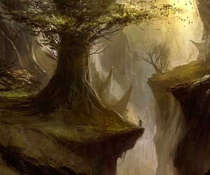 anime, arte, and tree image