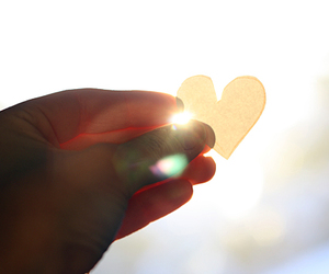 heart, sun, and cute image