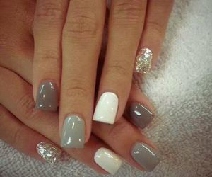nails, white, and grey image