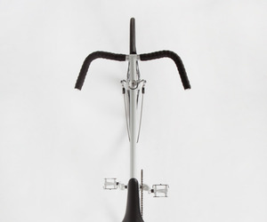 bicycle, white, and black image