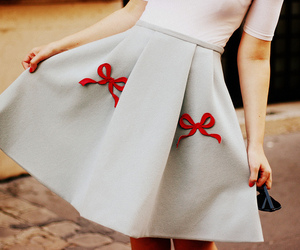 bow, fashion, and red image