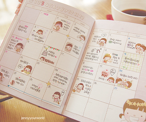 agenda, pink, and cute image