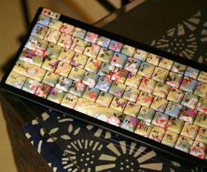 flowers and keyboard image