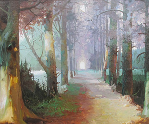 art, beautiful, and forest image
