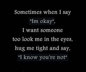quote, sad, and hug image