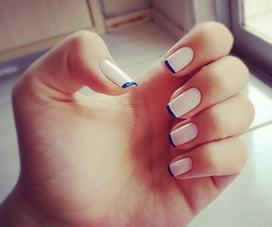 nails, girly, and manicure image