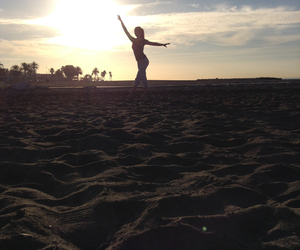 ballett, beach, and dance image