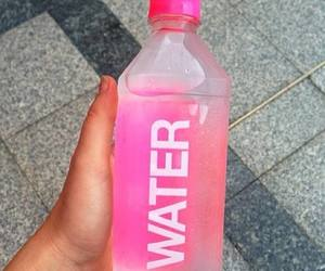 water, pink, and drink image