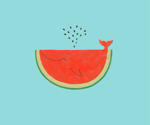 whale and watermelon image