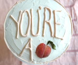 cake, dessert, and peach image