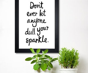 quote, sparkle, and text image