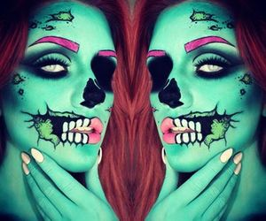 makeup, beauty, and zombie image