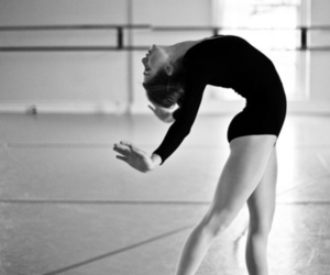 black and white, girl, and dance image