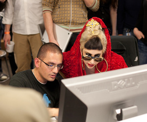 Lady gaga and twitter offices image