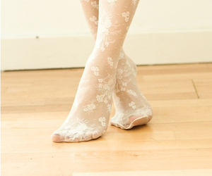 lace, tights, and white image