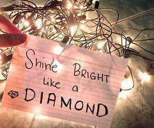 diamond, light, and shine image