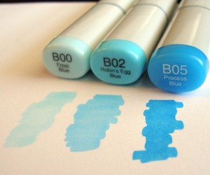 blue and marker image