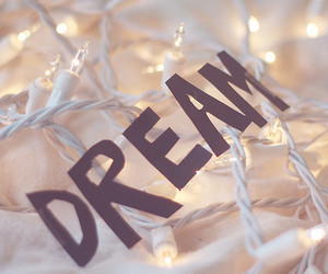 Dream, light, and text image