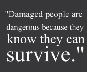 quote, survive, and damaged image