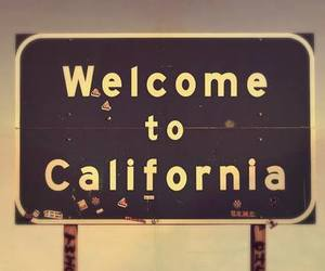 california, welcome, and usa image