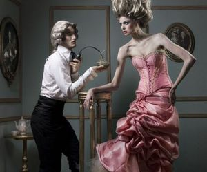 fashion, rococo, and pink image