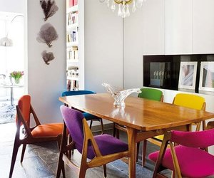 chairs and colorful image