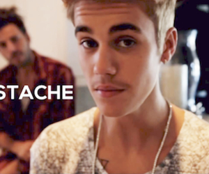 justin bieber, stache, and believe image