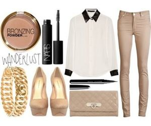 accessories, beige, and clutch image