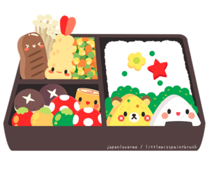 bento, bento box, and food image