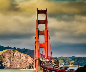 bridge, san francisco, and sky image