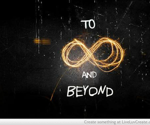 infinity, quote, and beyond image