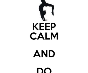 handstand and keep calm image