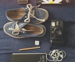 book, camera, and vans image