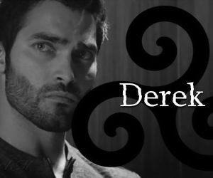 black-white, teen wolf, and derek hale image
