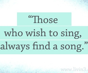 quote, sing, and song image