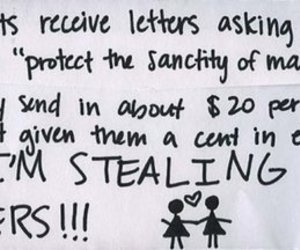funny, Letter, and gay rights image