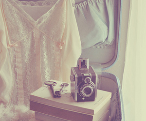 vintage, camera, and books image