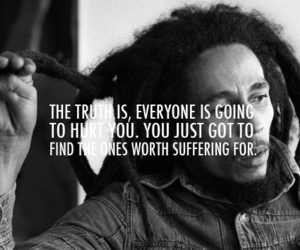 bob marley, quote, and hurt image
