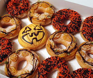 donuts, Halloween, and food image