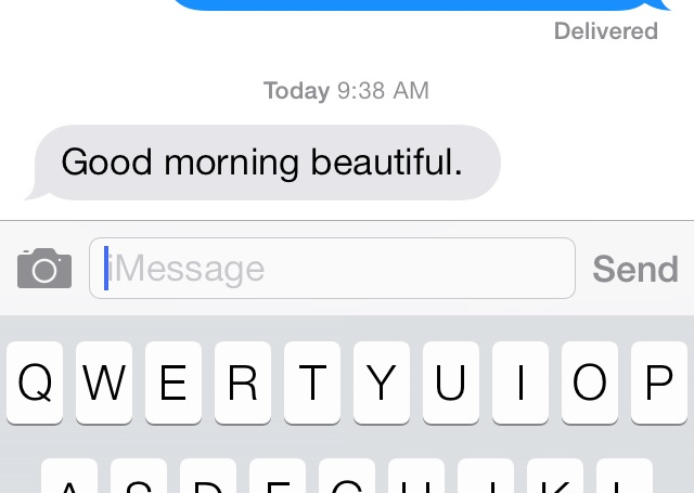 When a guy texts you good morning