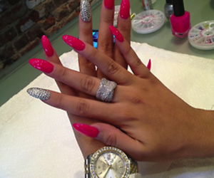 fashion, pink, and ring image