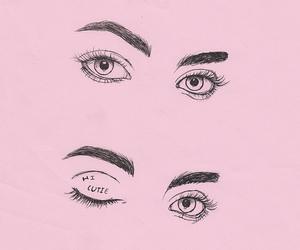 pink, eyes, and flirt image